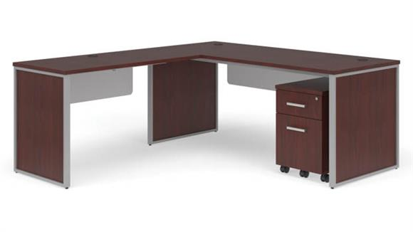 "L Shaped Desks OFM 72"" L-Shaped Desk Set"