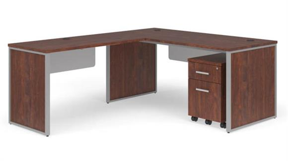 "L Shaped Desks OFM 66"" L-Shaped Desk Set"