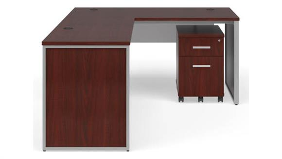 "L Shaped Desks OFM 60"" L-Shaped Desk Set"