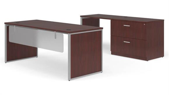 "Office Credenzas OFM 72"" Table Desk, 72"" Credenza Set"