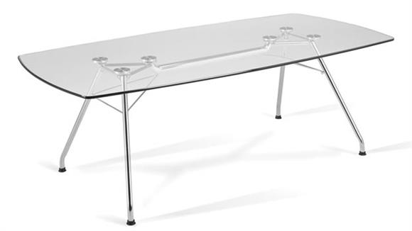 "Conference Tables OFM 77"" x 39"" Glass Conference Table"
