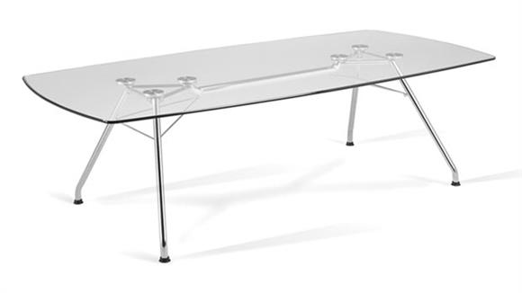 "Conference Tables OFM 95"" x 47"" Glass Conference Table"