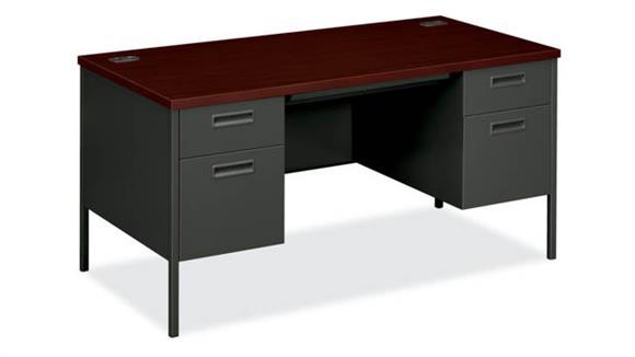 """Computer Desks OFM 60""""W Metro Double Pedestal Desk"""