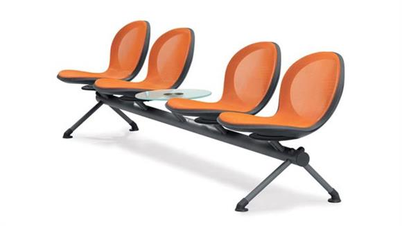 Side & Guest Chairs OFM Net Series 5 Unit Beam with 4 Seats and 1 Table