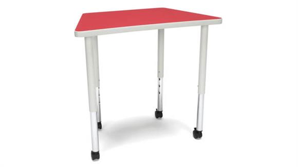 Activity Tables OFM Trapezoid Large Leg Table with Casters