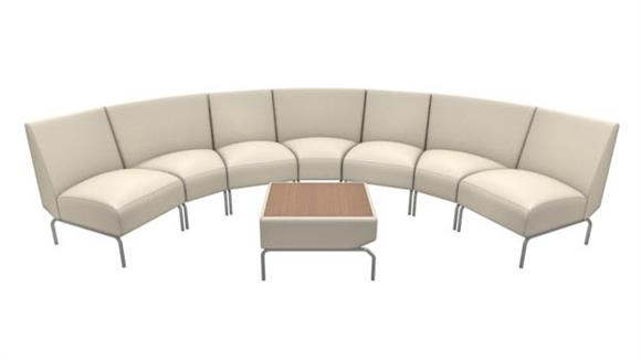 Side & Guest Chairs OFM Curved Modular Lounge Configuration