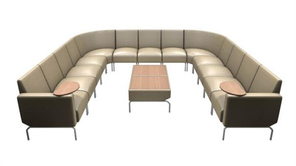 Side & Guest Chairs OFM U Shaped Modular Lounge Configuration