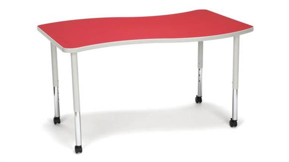 Activity Tables OFM Wave Small Top Small Leg Table with Casters