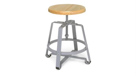 Drafting Stools OFM Endure Small Stool with Wood Seat