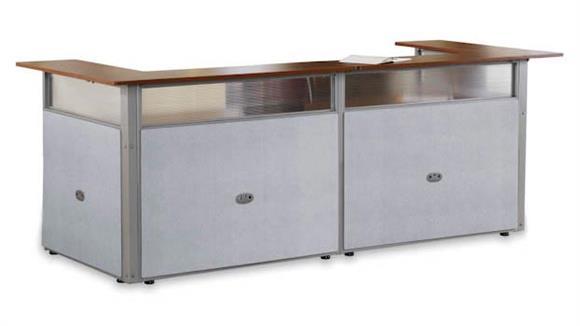 """Reception Desks OFM 96"""" x 37"""" U Shaped Reception Desk"""