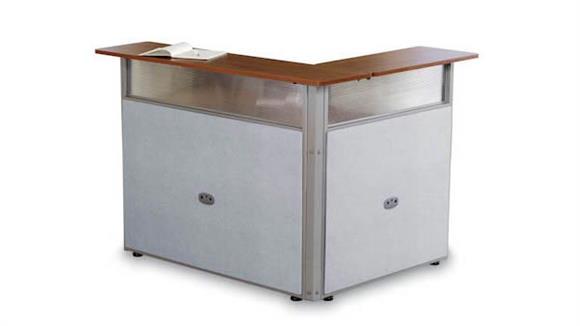 "Reception Desks OFM 48"" x 37"" L Shaped Reception Desk"