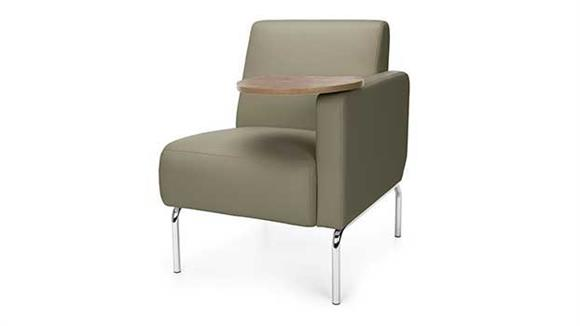 Sensational Left Arm Modular Lounge Chair With Tablet By Ofm Ibusinesslaw Wood Chair Design Ideas Ibusinesslaworg