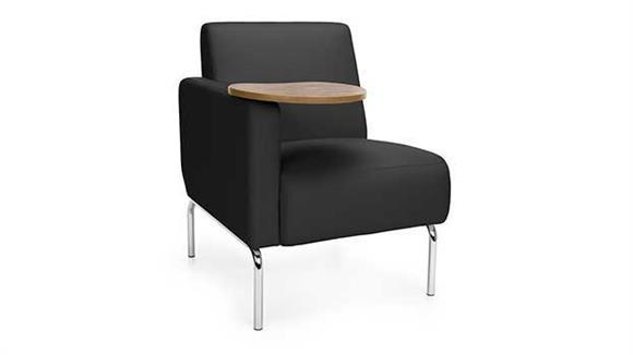 Fantastic Right Arm Modular Lounge Chair With Tablet By Ofm Creativecarmelina Interior Chair Design Creativecarmelinacom