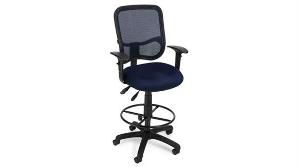 Drafting Stools OFM Modern Mesh Ergonomic Task Stool with Arms