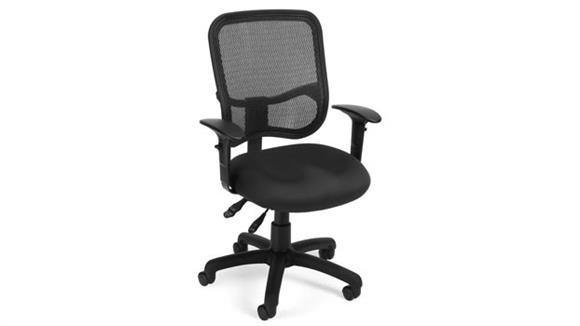 Office Chairs OFM Modern Mesh Ergonomic Task Chair with Arms
