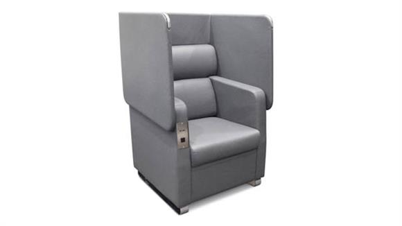 Office Chairs OFM Morph Soft Seating Chair with Privacy Panel