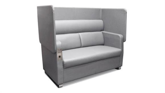 Office Chairs OFM Morph Soft Seating Sofa with Privacy Panel