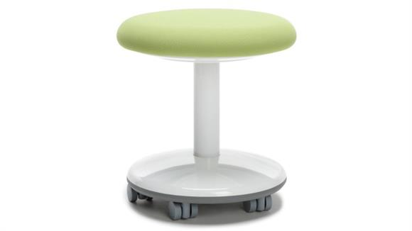 "Active - Balance - Wobble Stools OFM Static Stool 14"" High - Fabric, with Casters"