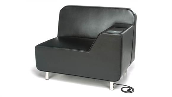 Office Chairs OFM Left Arm Lounge Chair with Electrical
