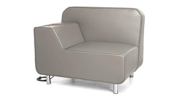 Office Chairs OFM Right Arm Lounge Chair with Electrical