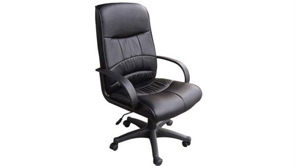 Office Chairs OFM Leatherette Mid Back Chair