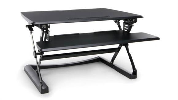 Adjustable Height Desks & Tables OFM Height Adjustable Sit to Stand Desktop Riser