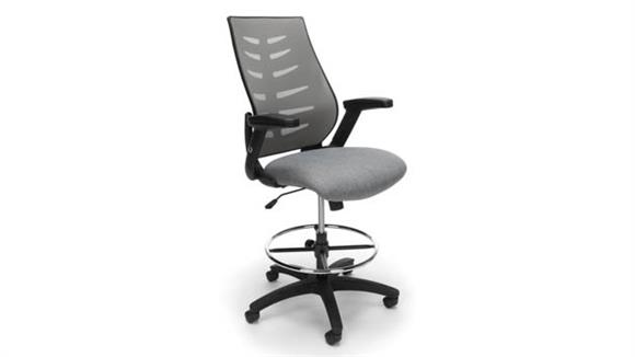 Office Chairs OFM Mesh Stool w/ Fabric Seat and Footring