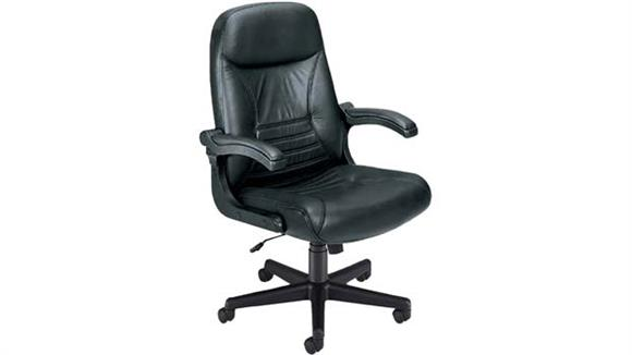 Office Chairs OFM Mobile Arm Leather Conference Chair