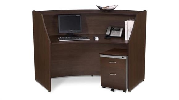 Reception Desks OFM Marque Single Reception Station with Pedestal