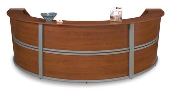 Reception Desks OFM Marque Triple Reception Station