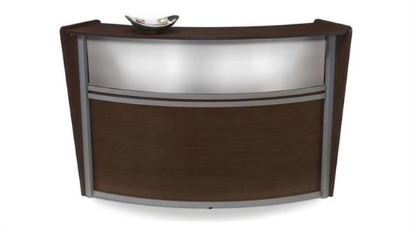 Reception Desks OFM Marque Translucent Front Single Reception Station