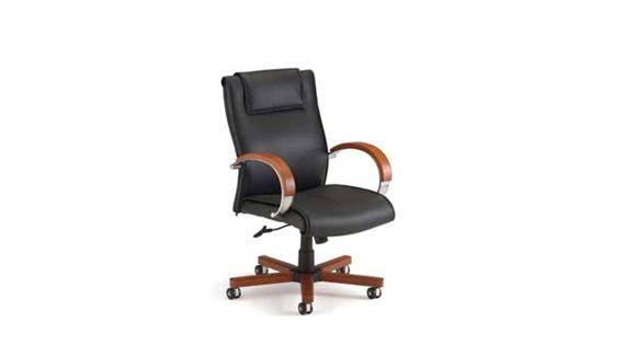 Office Chairs OFM Mid Back Leather Chair