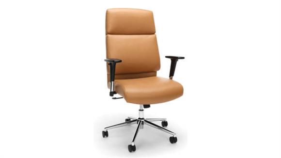 Office Chairs OFM High Back Bonded Leather Manager Chair