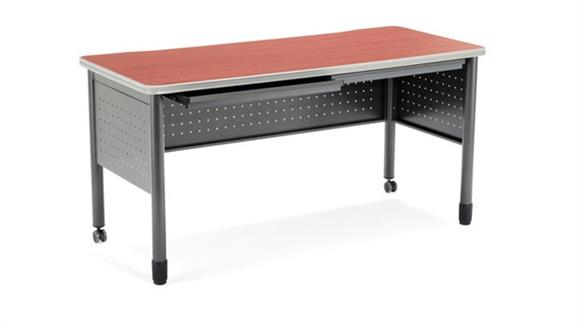 "Steel & Metal Desks OFM 55"" Table Desk with Drawers"