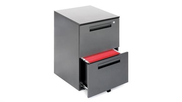 Mobile File Cabinets OFM 2 Drawer Mobile File Pedestal