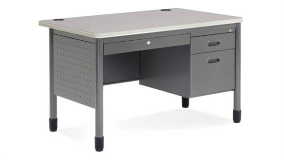 "Executive Desks OFM 48"" Single Pedestal Steel Desk"