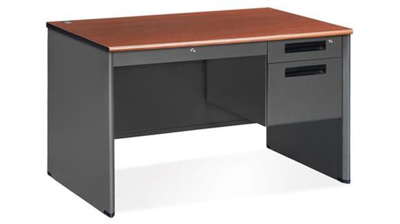 Executive Desks OFM Single Pedestal Executive Steel Desk