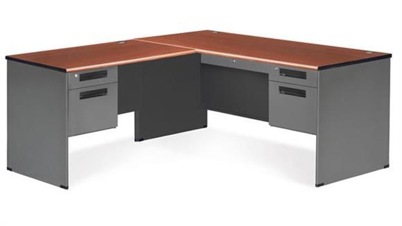 L Shaped Desks OFM L Shaped Executive Steel Desk