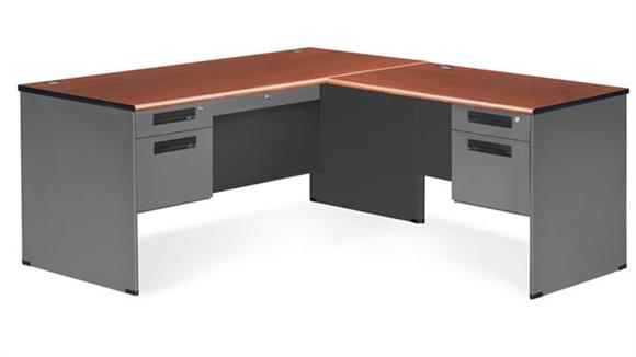 L Shaped Desks OFM L Shaped Executive Steel Desk