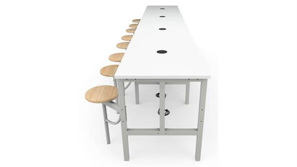 General Tables OFM Standing Height 8 Seat Table