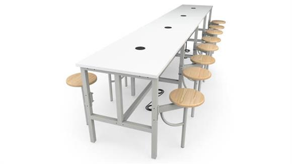 General Tables OFM Standing Height 16 Seat Table
