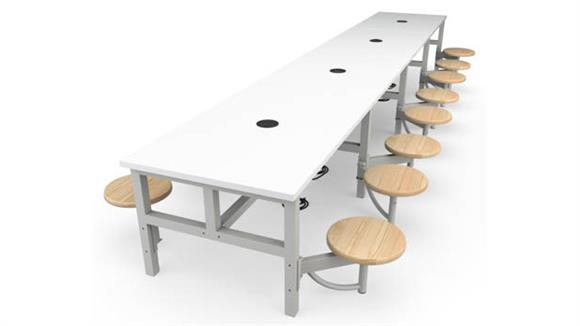 General Tables OFM Student Height 16 Seat Table