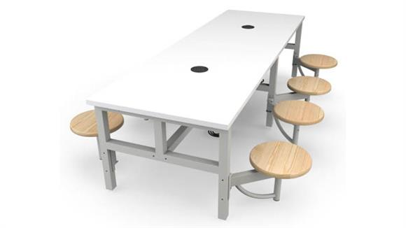 General Tables OFM Student Height 8 Seat Table
