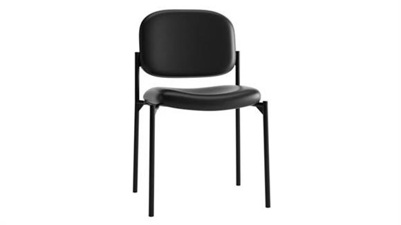 Stacking Chairs OFM Stacking Armless Leather Guest Chair