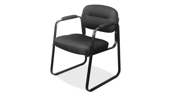 Side & Guest Chairs OFM Sled Base Leather Guest Chair
