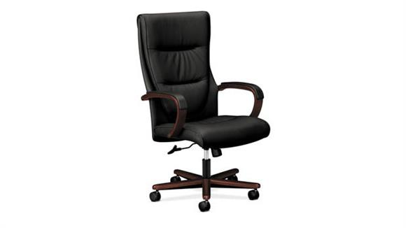 Office Chairs OFM Topflight High-Back Leather Chair