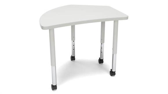 Activity Tables OFM Crest Small Leg Table with Casters