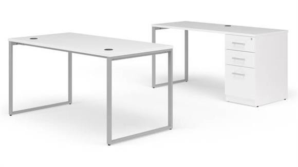 "Office Credenzas OFM 60"" Desk with Credenza Set"