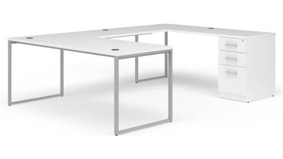 "U Shaped Desks OFM 72"" U-Desk Set"
