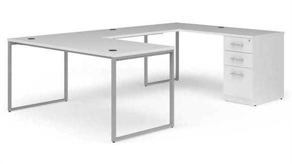 "U Shaped Desks OFM 66"" U-Desk Set"